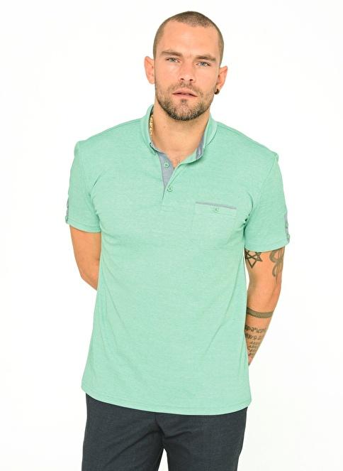 People By Fabrika Polo Yaka T-Shirt Yeşil